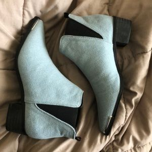 EUC! ASOS Blue Boots with Silver Tip